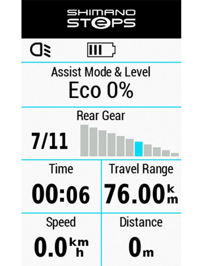 Shimano управление eBike на edge 530