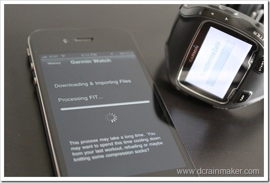 Garmin FR910XT Downloading Workouts via Wahoo Fitness iPhone Dongle