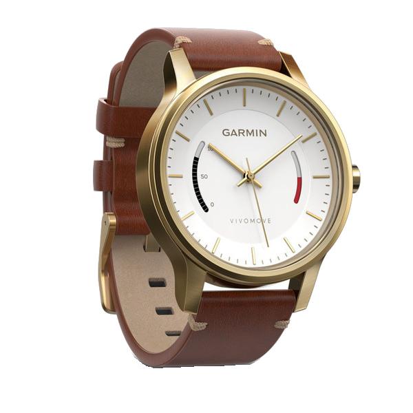 Купить Vivomove Premium со стальным корпусом и кожаным ремешком золотистые в интернет магазине Навигационныx систем и оборудования Garmin
