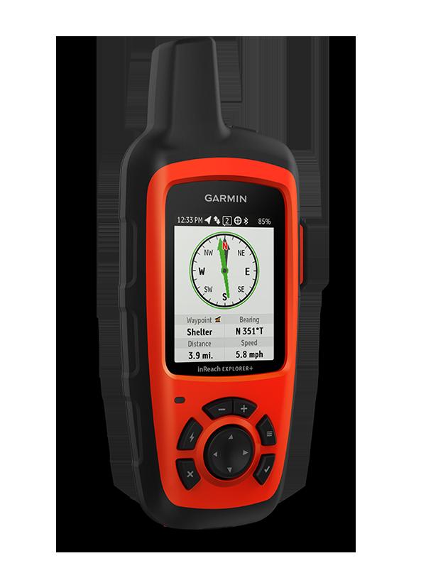 Купить InReach Explorer+ туристический спутниковый коммуникатор с GPS и топокартами в интернет магазине Навигационныx систем и оборудования Garmin