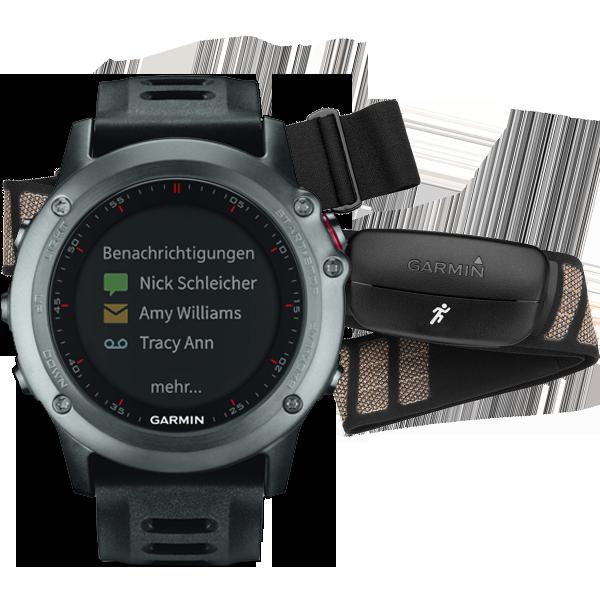 Купить Fenix 3 HRM серый с черным ремешком в интернет магазине Навигационныx систем и оборудования Garmin