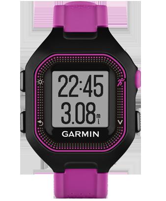 Купить Forerunner 25 черно-фиолетовые маленькие в интернет магазине Навигационныx систем и оборудования Garmin