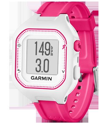 Купить Forerunner 25 бело-розовые в интернет магазине Навигационныx систем и оборудования Garmin