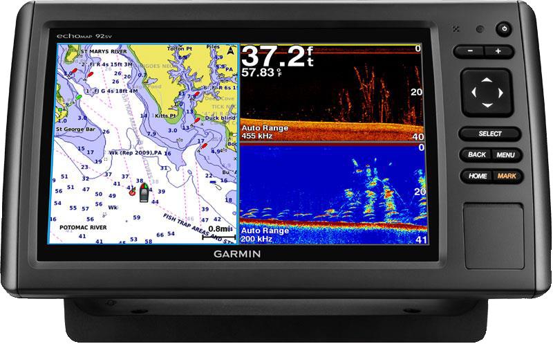 Купить Echomap chirp 92sv с трансдьюсером в интернет магазине Навигационныx систем и оборудования Garmin