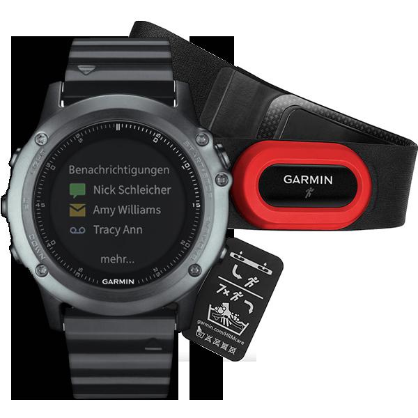 Купить Fenix 3 HRM Sapphire с металлическим браслетом в интернет магазине Навигационныx систем и оборудования Garmin