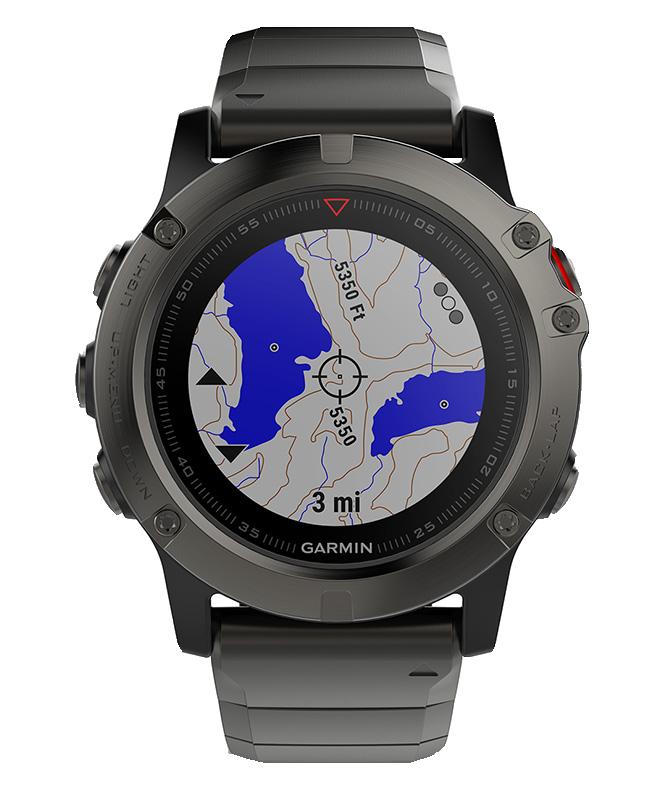 Купить Fenix 5x sapphire серые с металлическим браслетом в интернет магазине Навигационныx систем и оборудования Garmin
