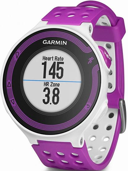 Купить Forerunner 220 HRM Russia Бело-фиолетовый в интернет магазине Навигационныx систем и оборудования Garmin