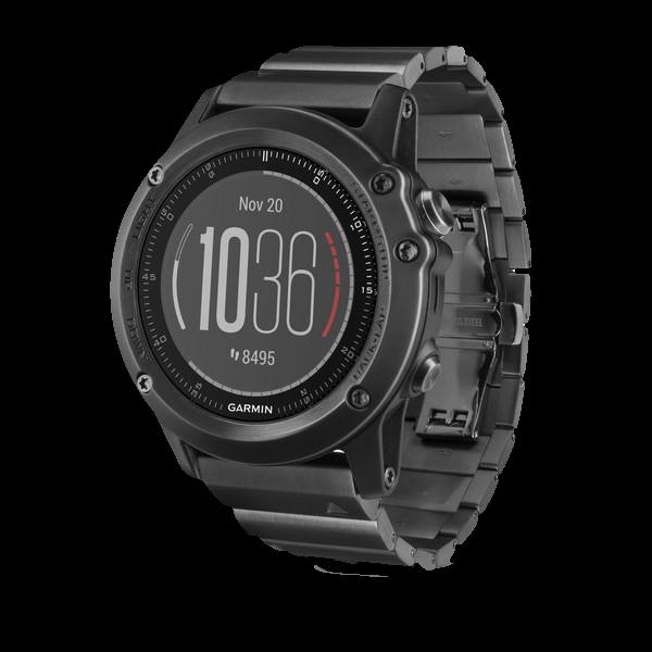 Купить Fenix 3 Sapphire HR металлическим браслетом в интернет магазине Навигационныx систем и оборудования Garmin