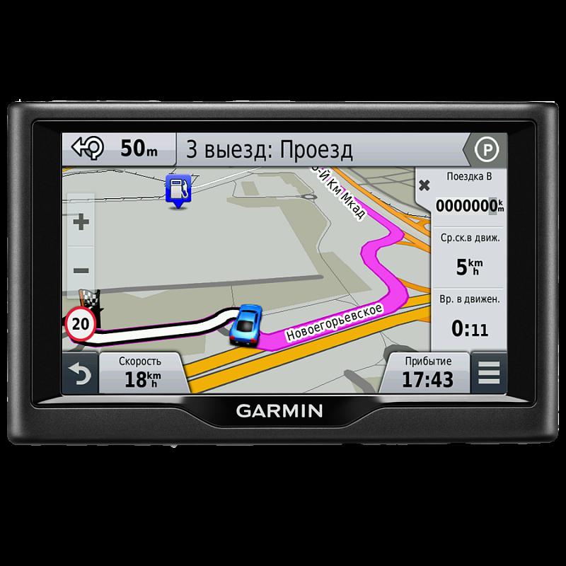 Купить Nuvi 67LMT Russia - навигатор 6,1 дюйма с картой России, базой Foursquare и трафиком в интернет магазине Навигационныx систем и оборудования Garmin