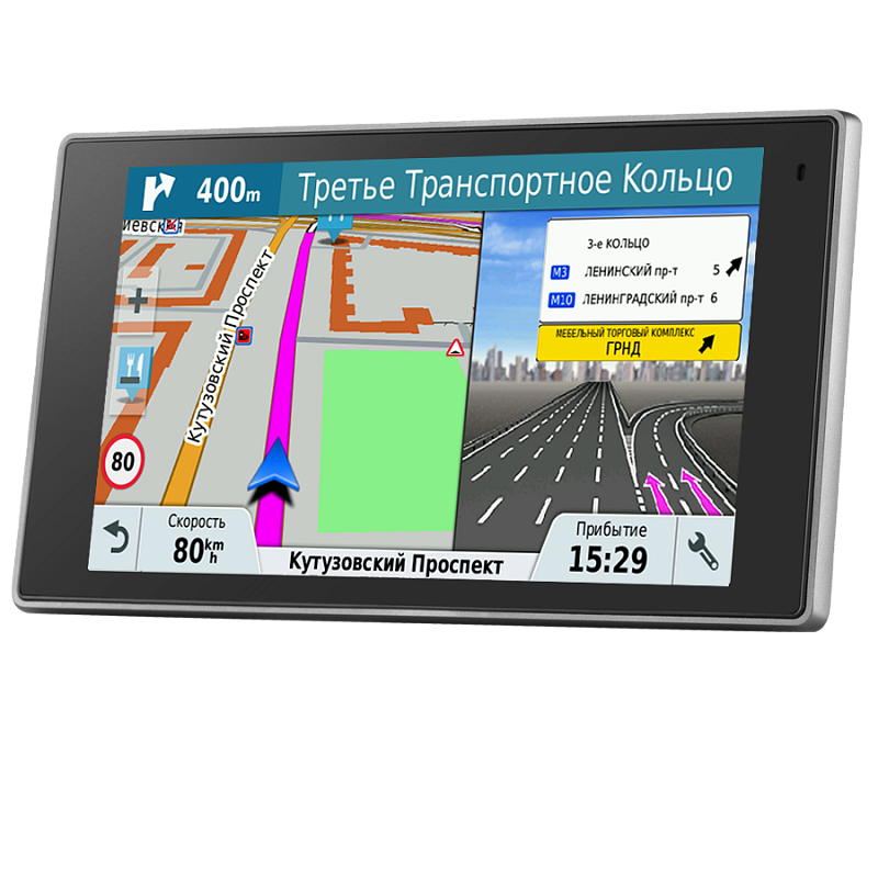 """Купить DriveLuxe 50 RUS LMT - навигатор 5 дюймов, исполнение """"премиум"""", с картой России и приемом пробок в интернет магазине Навигационныx систем и оборудования Garmin"""