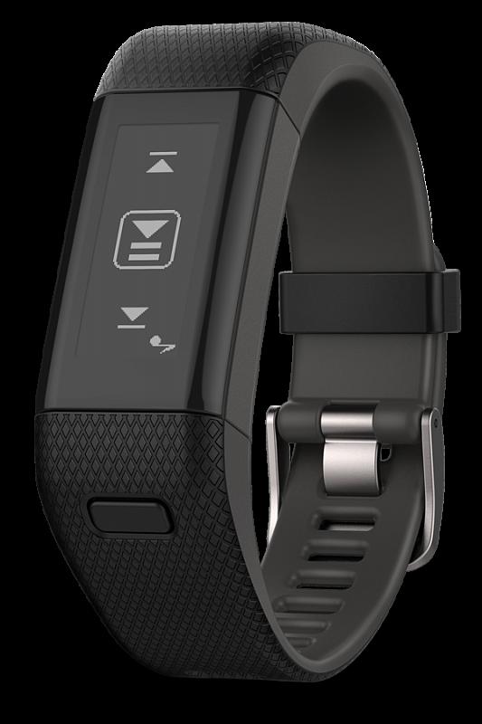 Купить vivosmart HR+ черно-серые большой размер в интернет магазине Навигационныx систем и оборудования Garmin