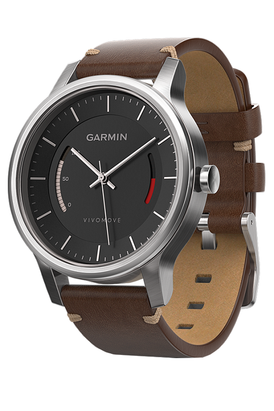 Купить Vivomove Premium со стальным корпусом и кожаным ремешком в интернет магазине Навигационныx систем и оборудования Garmin