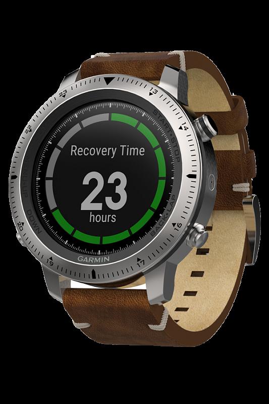 Купить Fenix Chronos с кожаным браслетом в интернет магазине Навигационныx систем и оборудования Garmin