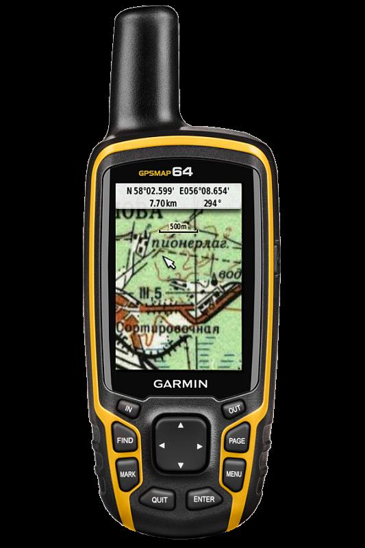 Купить Gpsmap 64 - кнопочный навигатор с картами и внешней антенной в интернет магазине Навигационныx систем и оборудования Garmin