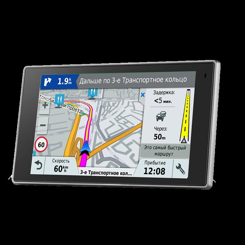 """Купить DriveLuxe 51 RUS LMT - навигатор 5 дюймов, исполнение """"премиум"""", с картой России и приемом пробок в интернет магазине Навигационныx систем и оборудования Garmin"""
