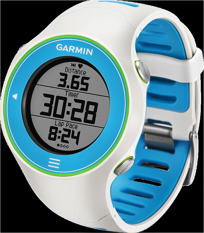 ae66489205d0 Часы для бега Garmin Forerunner 610 HRM цвет бело-синий покупайте в ...