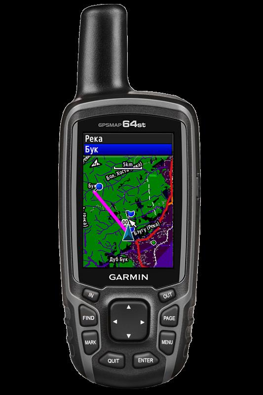 Купить Gpsmap 64st - кнопочный навигатор с топокартой, внешней антенной, электронным компасом и барометром в интернет магазине Навигационныx систем и оборудования Garmin