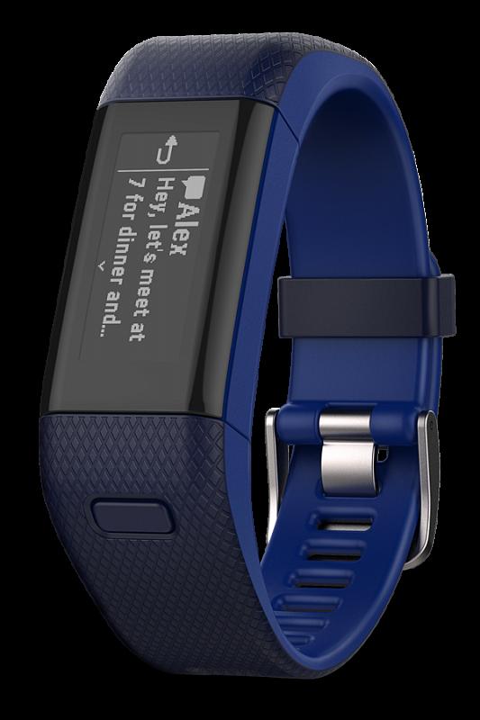 Купить vivosmart HR+ темно-синие в интернет магазине Навигационныx систем и оборудования Garmin