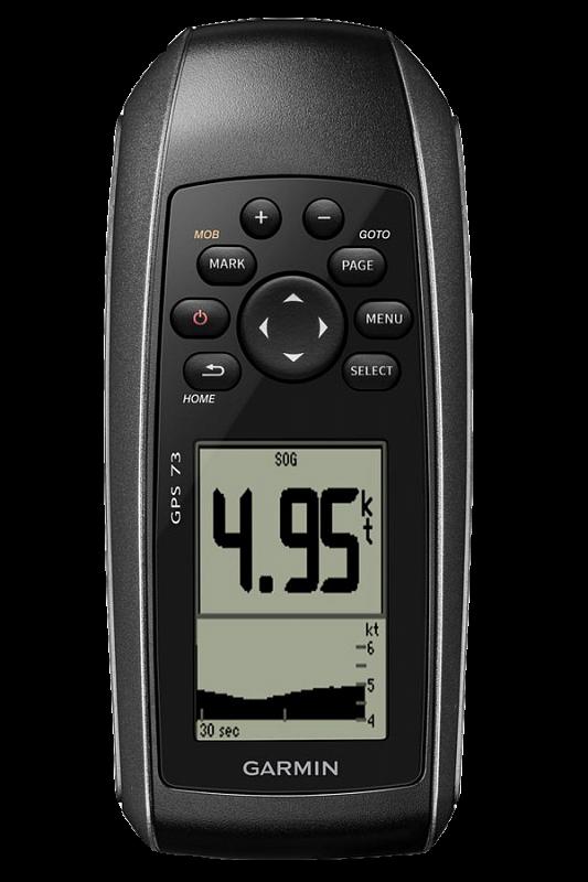 Купить Gps 73 - доступный навигатор с черно-белым экраном и положительной плавучестью в интернет магазине Навигационныx систем и оборудования Garmin