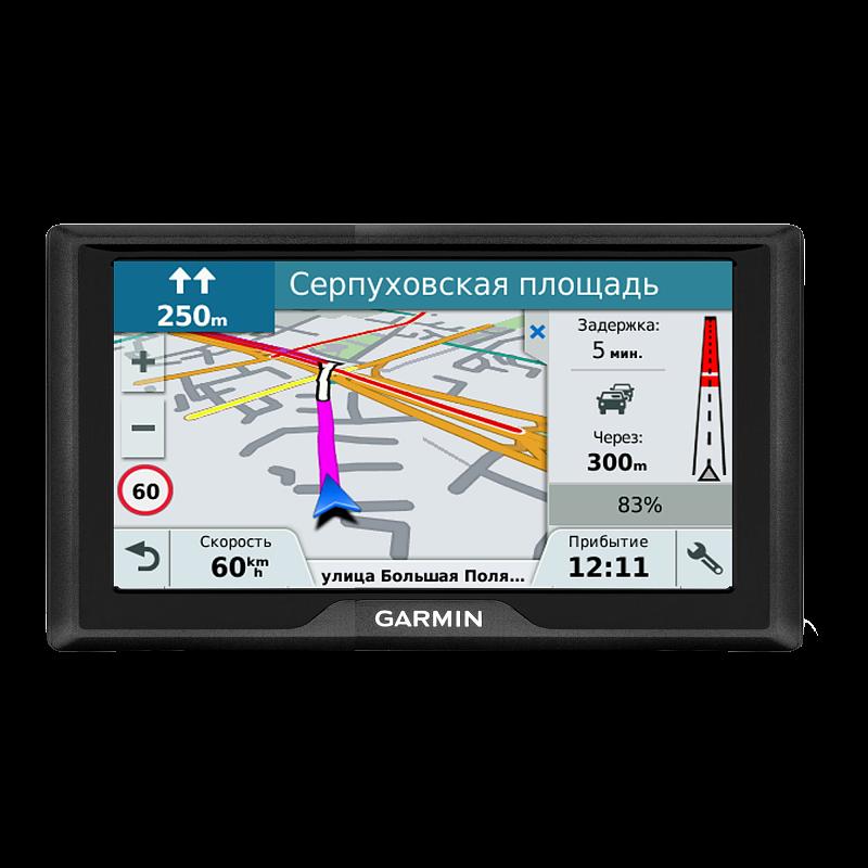Купить Drive 61 RUS LMT - навигатор 6,1 дюйма с картой России и приемом пробок в интернет магазине Навигационныx систем и оборудования Garmin